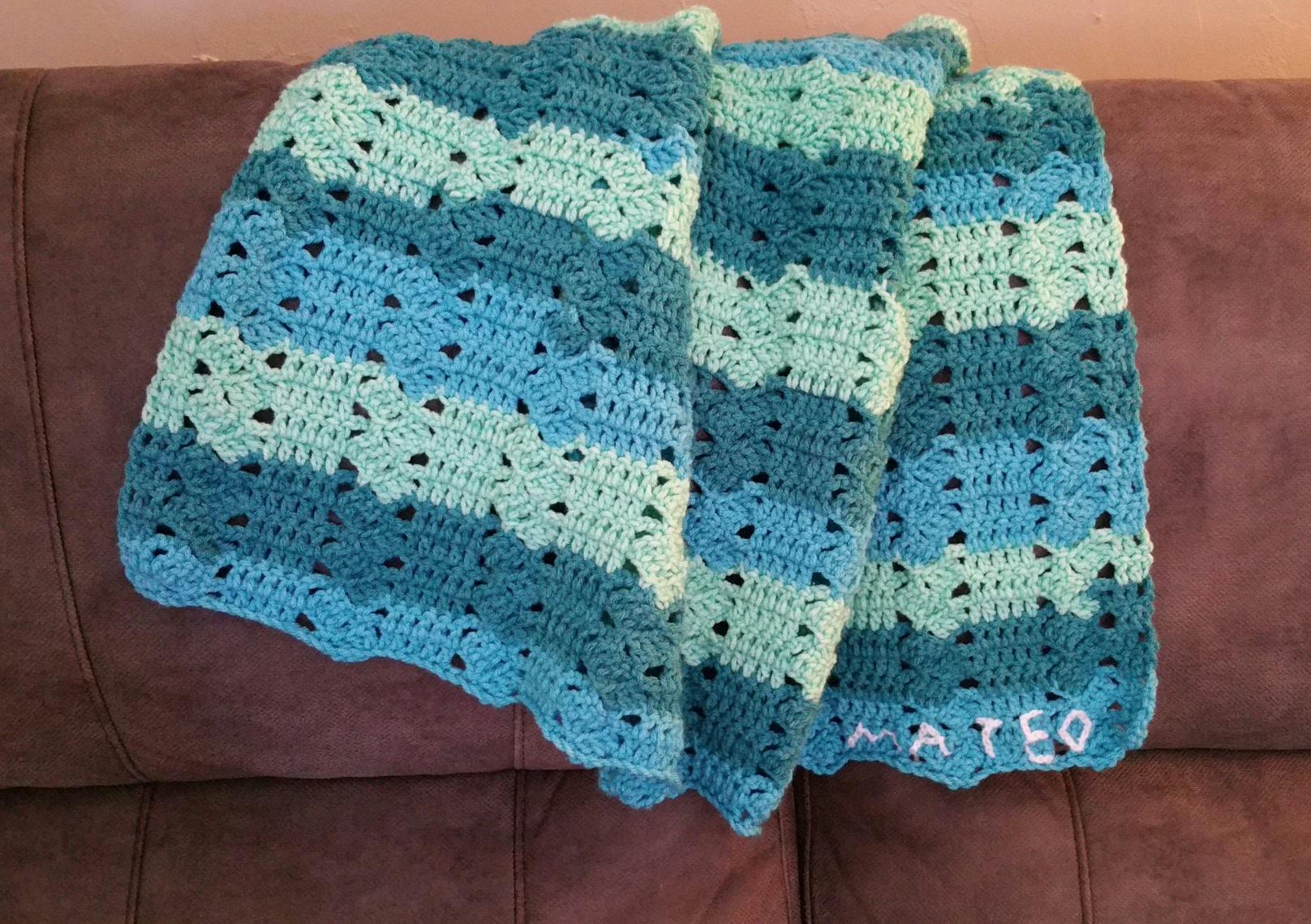 Tuto Couverture Pour Bébé Avec Un Joli Dessin De Crochet