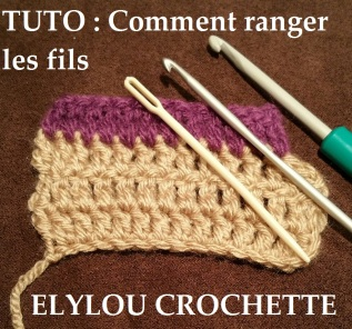 cours 42 comment rentrer le fil au crochet elylou crochette. Black Bedroom Furniture Sets. Home Design Ideas