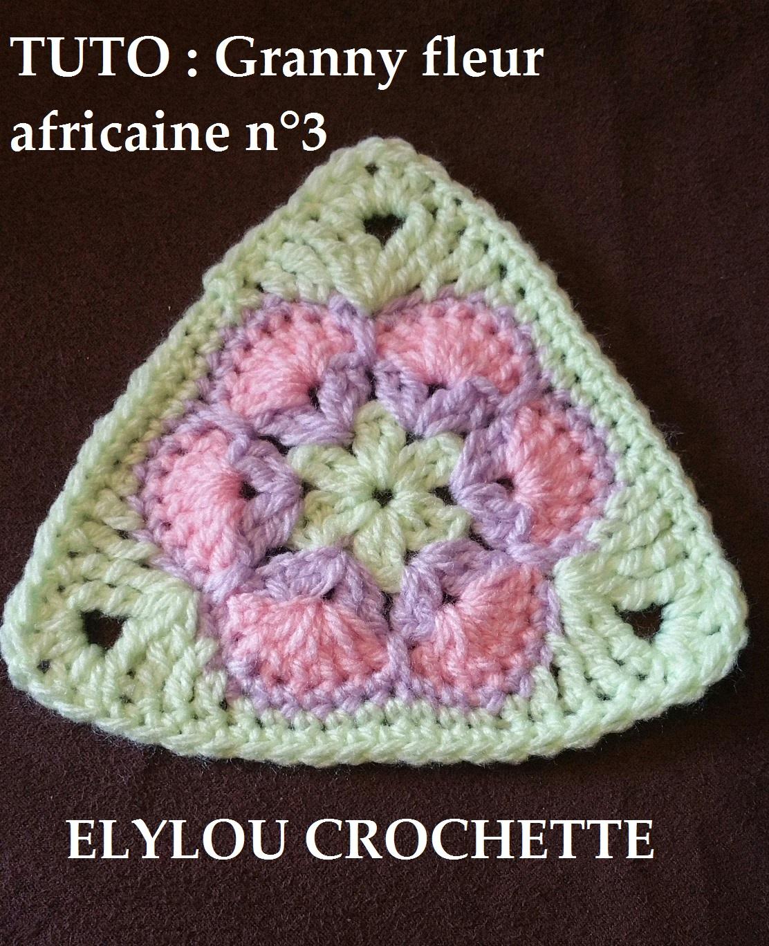 Granny Fleur Africaine N 3 Elylou Crochette