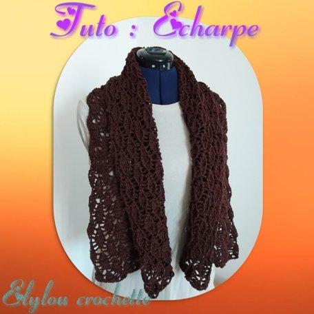 Echarpe Snood Etole Elylou Crochette Douceur2maille
