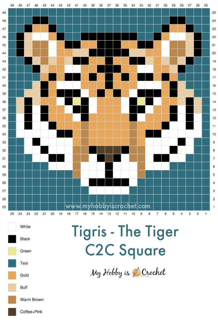 Tiger+c2c+graph+myhobbyiscrochet
